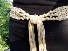 crochet woman belt