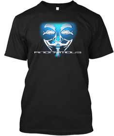 Hacker T Shirt   Anonymous Special  Black T-Shirt Front