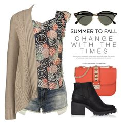 """""""Summer to Fall 2209"""" by boxthoughts ❤ liked on Polyvore featuring Marc Jacobs, Lands' End, Valentino, River Island and Ray-Ban"""