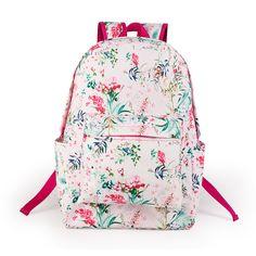Honest Pink Eiffel Tower Printing Backpack Women Casual Rucksack Canvas School Backpack For Teenage Girls Travel Bags Mochila Escolar Luggage & Bags