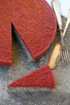 Poppy Seed Cake with Raspberry Chia Jam (Paleo)