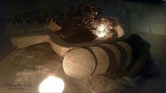 Onderzetters van klei ♡ Wij gebruiken ze als decoratieve ornamentjes....