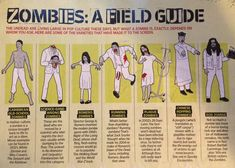 ZOMBIES: A FIELD GUIDE [INFOGRAPHIC] When you encounter a zombie, it's always good to know what kind of zombie you are dealing with. That's when the Zombies: A Field Guide comes in handy.