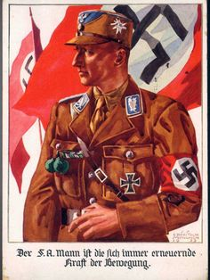 """German  WW2  """"The S A man who is always renewing power of the Bemegung"""""""