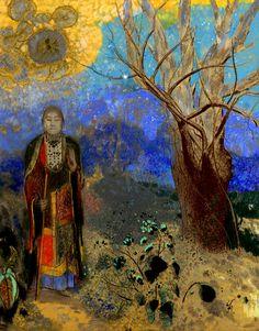 buddha in the garden/ odilon redon