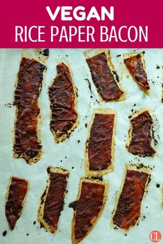 Simultaneously crispy and chewy, with a magical coating of smoky-salty marinade, this whole-grain rice paper vegan bacon is a non-meat-eater's dream. Toss pieces into any dish that could use a boost of umami. | Cooking Light