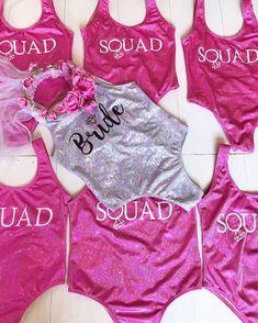 Bride Squad Bathing Suit, Bride Squad Swimsuit, Bride Bikini, Disney Bachelorette, Bachelorette Party Shirts, Pool Party Outfits, Team Bride, Cushion Wedding Bands, Wedding Things