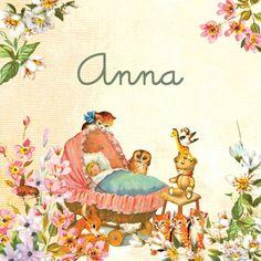 Blauw Roze retro en vintage geboortekaartjes