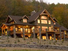 Luxurious Timber-Frame Lodge in New York >> http://www.frontdoor.com/coolhouses/rustic-chic-timber-frame-home-in-new-york?soc=pinterest