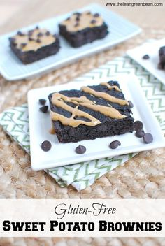 These Gluten-Free Sweet Potato Brownies are flourless, sweetened with dates and full of chocolate flavor. They taste so good you'll never believe they're a healthy dessert!