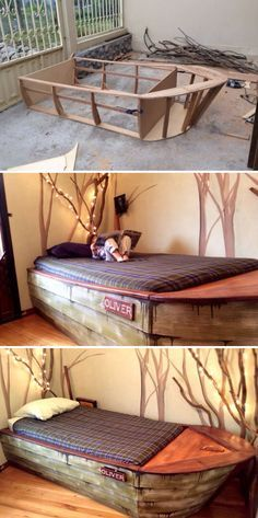 When Jameson gets big enough for a twin size bed, I hope to make him one like this. I think it's just totally cool. Only exception being more pull out drawers on the side... to be used for linen or for clothes. :-)