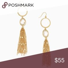 """NWOT Kate Spade Quartz Cascade Gold Earrings Brand new without tags. Comes in a dust bag. Gold hardware. Hangs about 5"""". More pictures to come kate spade Jewelry Earrings"""