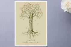 Carved Tree Wedding Announcements