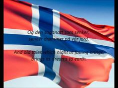 """National Anthem of Norway - """"Ja Vi Elsker Dette Landet"""" (Yes We Love This Country) Includes lyrics in both Norwegian and English. Sons Of Norway, Norway Viking, Constitution Day, Beautiful Norway, Trondheim, Thinking Day, Midnight Sun, National Anthem, My Heritage"""