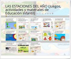 """""""13 juegos, actividades y materiales sobre LAS ESTACIONES DEL AÑO en Educación Infantil"""""""