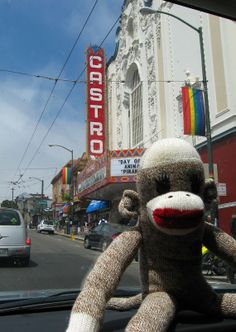 Castro St. SF I Love this town Sock Monkey