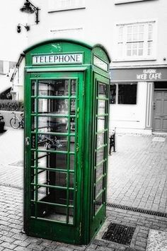 George Oze Premium Thick-Wrap Canvas Wall Art Print entitled Irish Phone Booth, Kinsale, County Cork, Republic of Ireland Irish Eyes Are Smiling, Telephone Booth, Irish Roots, County Cork, Republic Of Ireland, Luck Of The Irish, Ireland Travel, Cork Ireland, Galway Ireland