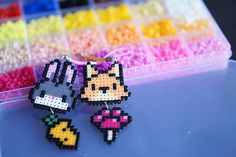 Zootopia phone strip #ateliergrassjelly #handmade #diy #craft #perlerbeads #perler #beads #hamabeads #zootopia #judy #nick #rabbit #hopps #fox #carrot #popsicle #手机吊饰 #动物方程式 #拼豆 #2.3mm