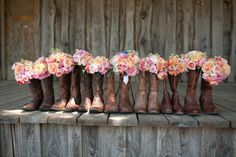 OMG - must do this with my maids!!! Photography by Carlea J Photography / carleajphotography.com, Floral Design by Wimberley Flower Shop / wimberleyflowershop.com/, Floral Design by WOW Factor Design / wowfactorfloral.com/