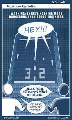 """Maximum Resolution"" -- Image: http://schizmatic.com/files/maximum_resolution.jpg  -- Page: http://schizmatic.com/comics/57 -- Schizmatic: A Webcomic Of Intelligent Weirdness"