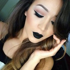 Makeup tutorial goth black lips 57 Ideas for 2019 Make-up Tutorial Gothic Black Lips 57 Ideen Black Lipstick Makeup, Dark Lipstick, Lipstick Colors, Skin Makeup, Lip Colors, Velvet Lipstick, Lipstick Style, Lipstick Art, Love Makeup