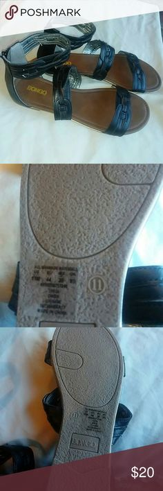 NOWT Bongo 11 M Black Gladiator Sandals 11 m. back tlack Women Gladiator. Zip up. the back..never worn... BONGO Shoes Sandals