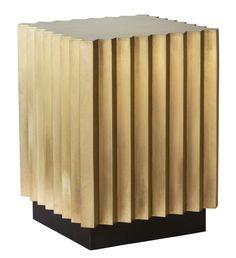 Corrugated Brass Side Table - Coup D'etat