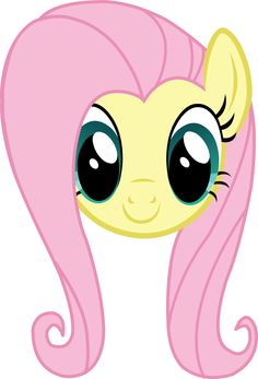 MLP - Fluttershy Headshot (Normal Eyelashes)