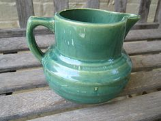 Hull Pottery, early utility stoneware, c. 1920. Pitcher.