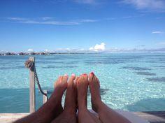 Maldives honeymooners, photo taken by Ben