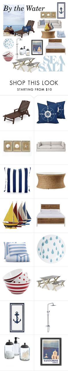 """""""Beyond the Sea"""" by leighatkisson ❤ liked on Polyvore featuring interior, interiors, interior design, home, home decor, interior decorating, Authentic Models, Bloomingdale's, Donna Wilson and Anchor Hocking"""