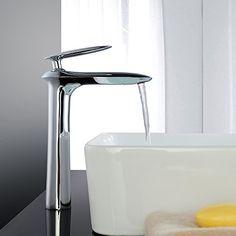 LED RGB Wasserhahn Waschtisch Mischbatterie Wasserfall Wasserkran Armatur DE