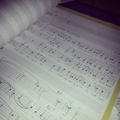I really freaking love writing music :) :) :) :) :) #sheetmusic #manuscript #choral #composer #music #composition #choir #responses #homophonic #handwritten #kyrie #harmony #yum by iamgeorgetown