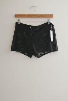 Bohemian Black Lace Drawstring Shorts