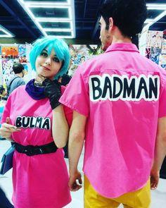 Bulma and her badman #bulma #vegeta #dragonball #dbz #cosplay #sakuracon2016 #latergram by meidumpling