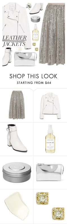 """Leather Jackets"" by deepwinter ❤ liked on Polyvore featuring Alice + Olivia, MANGO, Steve Madden, Herbivore, Hermès, MM6 Maison Margiela and leatherjackets"