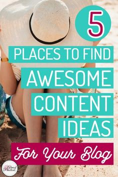 Are you suffering from writer's block? Don't know what to write about. Find some blogging inspiration right under your nose from these 5 awesome sources of content ideas. Get those creative juices flowing! #blogging #content #ideas #writing #contentideas #creativity #writersblock #blog