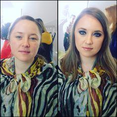 Smokey❤️before&after make-up