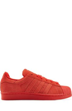 ADIDAS ORIGINALS Superstar Leather Sneakers, Red