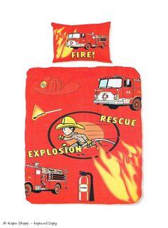 Kids Brandweer, dekbedovertrek brandweer 1 persoons