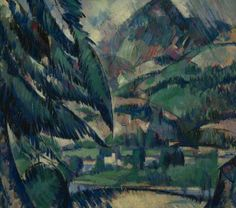 'A Village in a Valley' (c.1922) by Scottish painter John Duncan Fergusson (1874-1961). Oil on canvas, 43.2 x 50.8 cm. via BBC