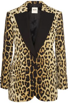 MOSCHINO CHEAP AND CHIC Leopard-print crepe blazer