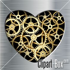 CLIPART METAL HEART