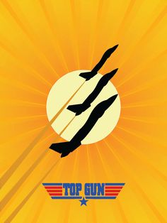 TOP GUN Minimalist Poster  11x17 by BCCreate on Etsy, $15.00