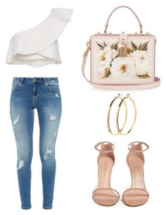 Casual White by mariaelisabeth-r on Polyvore featuring polyvore fashion style Isabel Marant Ted Baker Stuart Weitzman Dolce&Gabbana Pieces clothing