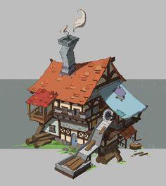 伐木场, tong yan on ArtStation at https://www.artstation.com/artwork/-34397456-0e0b-4a28-8740-5b4b6e548ef9