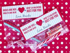 LAST MINUTE VALENTINE: Candy + Plastic Bag + Free Printable Bag Topper! >> http://www.diynetwork.com/decorating/diy-valentine-cards-gift-tags-banners-and-treat-bags-for-kids/pictures/index.html?soc=pinterest#