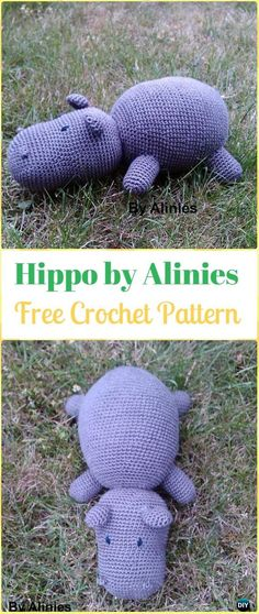 Crochet Amigurumi Hippo by Alinies Free Pattern - Amigurumi Crochet Hippo Toy Softies Free Patterns