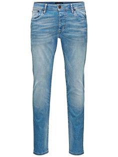 Jeans Intelligence - Slim-Fit-Jeans von PREMIUM - 5-Taschen-Modell - Low rise - Schmaler Oberschenkel - Schmale Knie - Schmaler Beinabschluss - Knopfleiste - Subtile Bleichungen sorgen für einen eingetragenen Look  Diese 5-Pocket Slim-Fit-Jeans überzeugt durch ihren klassischen, eingetragenen Look. Der Griff ist eher fest, was den Jeans ein robustes Feeling gibt. Dem Denim wurde etwas Elastan b...