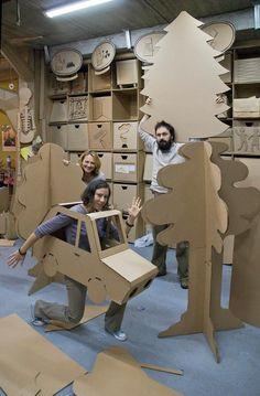 """Workshop """"Made in Cardboardia"""". September by Cardboardia , via Behance"""